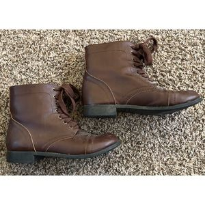 Rampage Lace Up Combat Boots